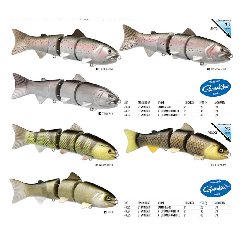 SWIMBAIT 80 BBZ1 SS SILVER FISH